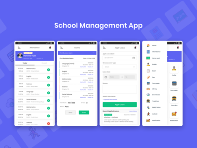 School Management Mobile App UI 2020