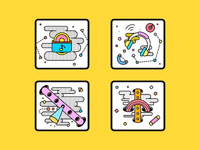 music icon illustration design