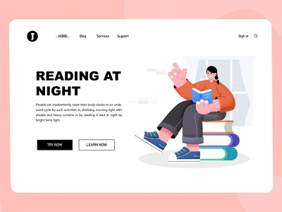 Read typography illustration design