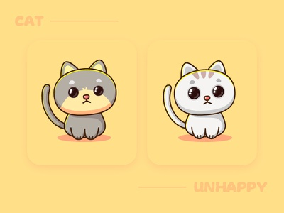 Unhappy app illustration design