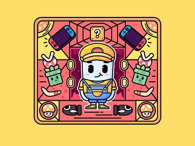 GAME illustration icon design