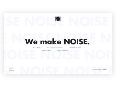 NOISE NOISE NOISE Studio Landing Page