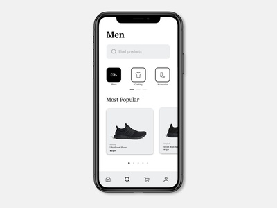 Classical Clothing Product Search UI UX