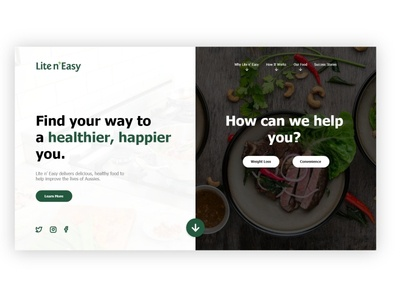 Lite n' Easy Landing Page