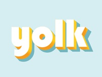 yolk, folks...