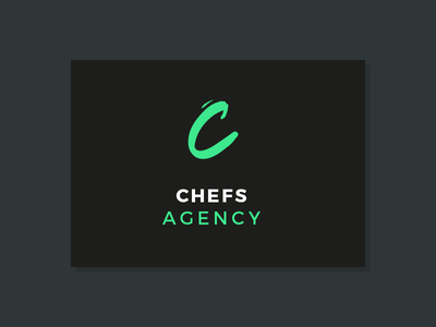 Chefs Agency brush typography lettering