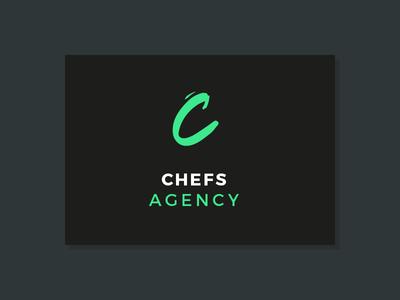 Chefs Agency brush typography lettering