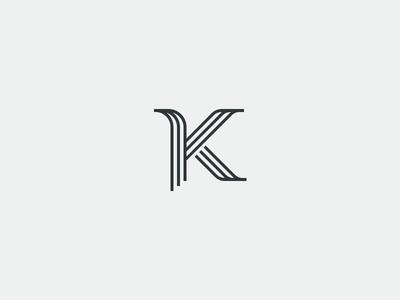 K logo branding typography letter