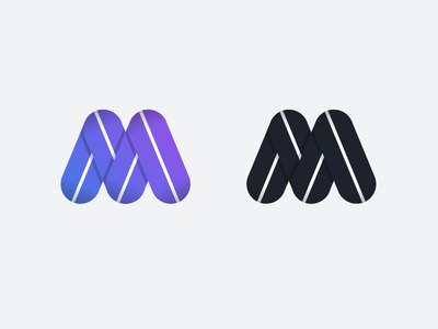 M symbol m letter gradient sketch
