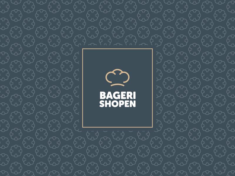 Bagerishopen pastry hat branding logo bakery