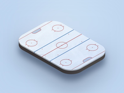 Iso Hockey rink ice hockey isometric