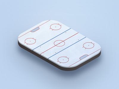 Iso Hockey rink ice hockey isometric