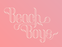 Dribble Beachboys lettering lines typography