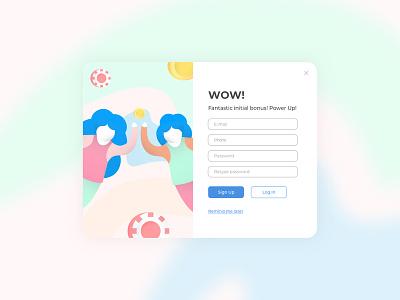 Pop Up Registration website web registration pop up design ui  ux illustration