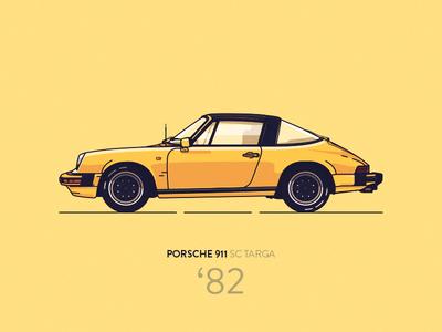 Porsche 911 SC Targa '82 (yellow)
