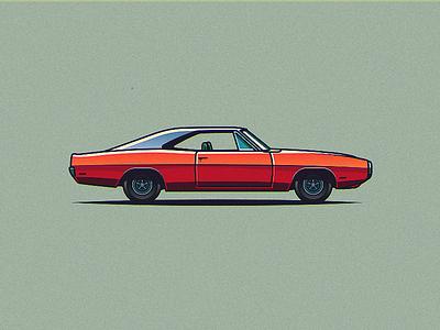 Dodge Charger 1970 vintage speed slick shadow retro logo illustration design 1970 dodge car charger
