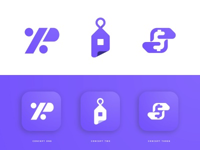 PC Bancard - Logo Concepts discount $ negative space logos lettermark logomarks app logo p letter branding brand identity rebrand for sale unused buy