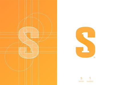 S1 - Logo Design first shot smart mark s letter negative space logotype designer logomark logo design grid layout for sale unused buy branding brand identity