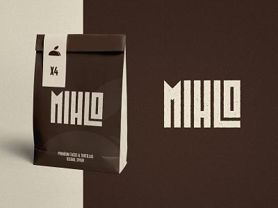 Mihlo - Packaging Design typography tortilla taco logo visual identity package brown logotype designer wordmark branding brand identity packaging design