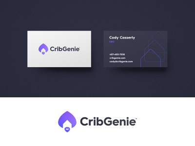 Crib Genie - Logo Wave Award real estate house home genie business cards logo design award winning brand identity branding logotype designer smart mark visual identity