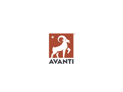 Avanti - Logo Animation ram antler animal outro motion design logotype designer intro branding brand agency goat logo animation after effects