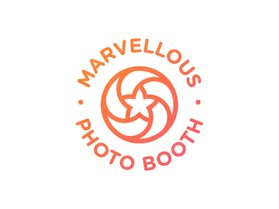 Marvellous Photo Booth - Logo Animation aperture camera lens star logotype designer brand identity branding gif outro motion design intro animation after effects