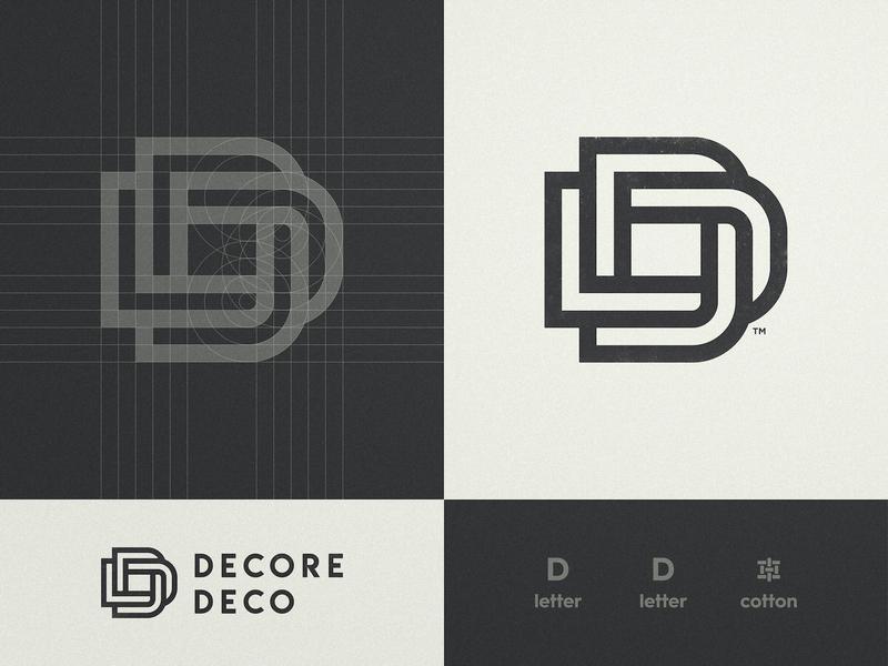 Decore Deco - Logo Design dd golden ratio trademark icon visual artist lettermark typography smart mark logo design grid layout logotype designer letter d branding brand identity