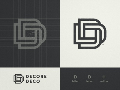 Decore Deco - Logo Design dd golden ratio trademark icon visual artist lettermark typography smart mark logo design grid layout logotype designer letter d branding brand identity