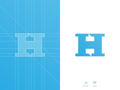 H chat boxes, letter mark negative space logo symbol icon h for sale app icon symbol monogram letter mark icon a b c d e f g h i j k l m n o p q r s t u v w x y z smart mark chat box negative space logomark logo design grid layout for sale unused buy clever branding brand identity 36daysoftype