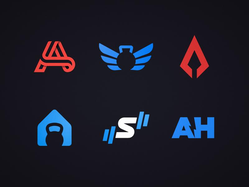 Fitness Logos Compilation negative space logotype designer logos logo design inspiration compilation colors colorful clever smart creative brands branding brand identity