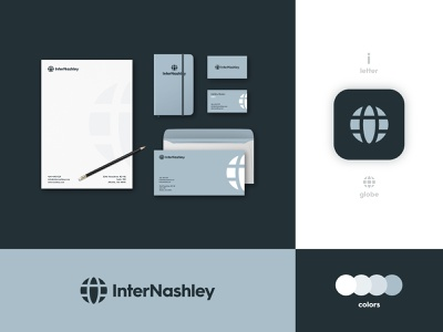 InterNashley - Brand Identity Design global logo typography smart mark i logo logotype designer lettermark identity design business card branding brand globe