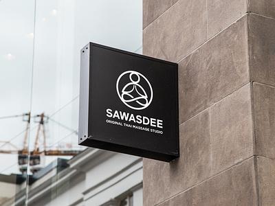Sawasdee - Logo Design logo orange yoga lotus zen health therapy relax body spa thai massage