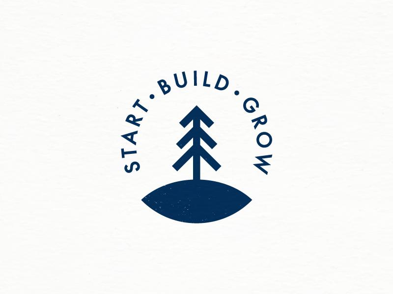 Start Build Grow icon logotype logo outdoors oak arrow nature plant tree grow build start
