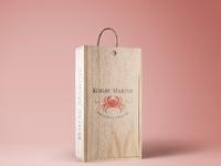 Wooden wine box mockup vol 3