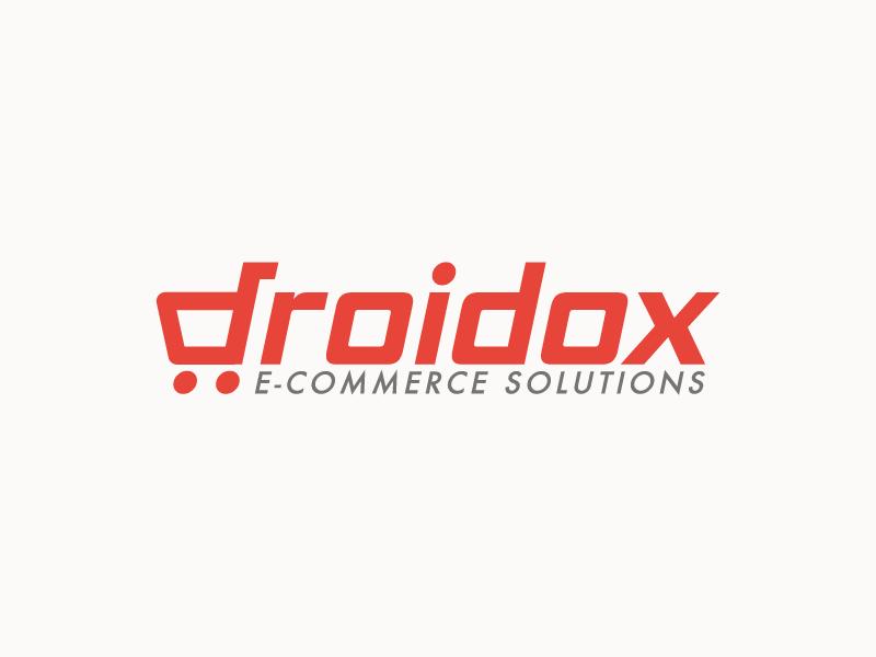 Droidox smart branding shopping cart identity icon mark logotype logo market shop ecom ecommerce cart