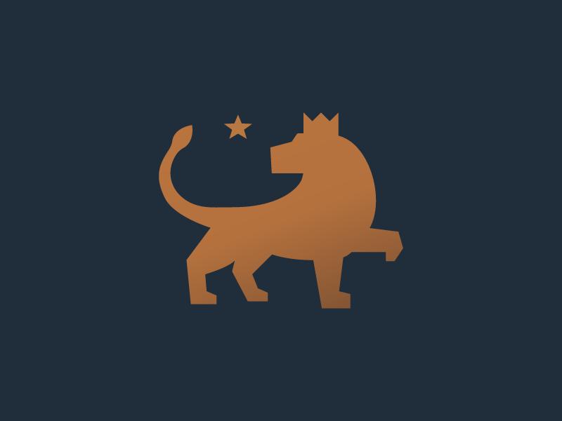 Lion King symbol mark logotype logo crown beast mascot cat animal star king lion