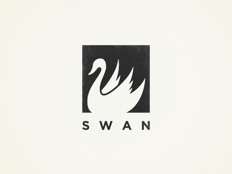 Swan Accessories mark symbol identity branding brand simple minimal logo swans swan bird animal