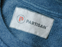 Partisan logo on clothing