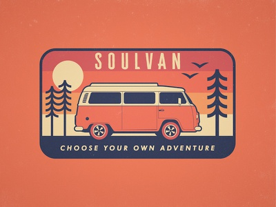 Soulvan - Badge Design patch badge logo vehicle bus vw minibus minivan volkswagon volkswagen adventure van