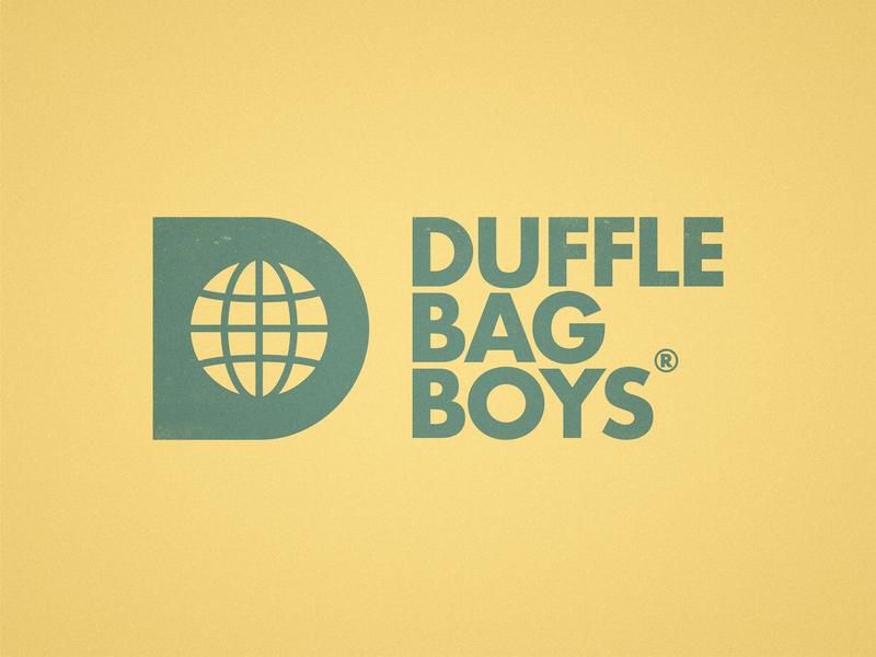Duffle Bag Boys - Logo Design icon logotype logo bold hustle entrepreneur digital nomad clothing label negative space world globe d