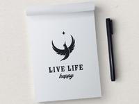 Live life happy sketch