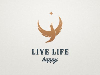 Live Life Happy - Logo Design