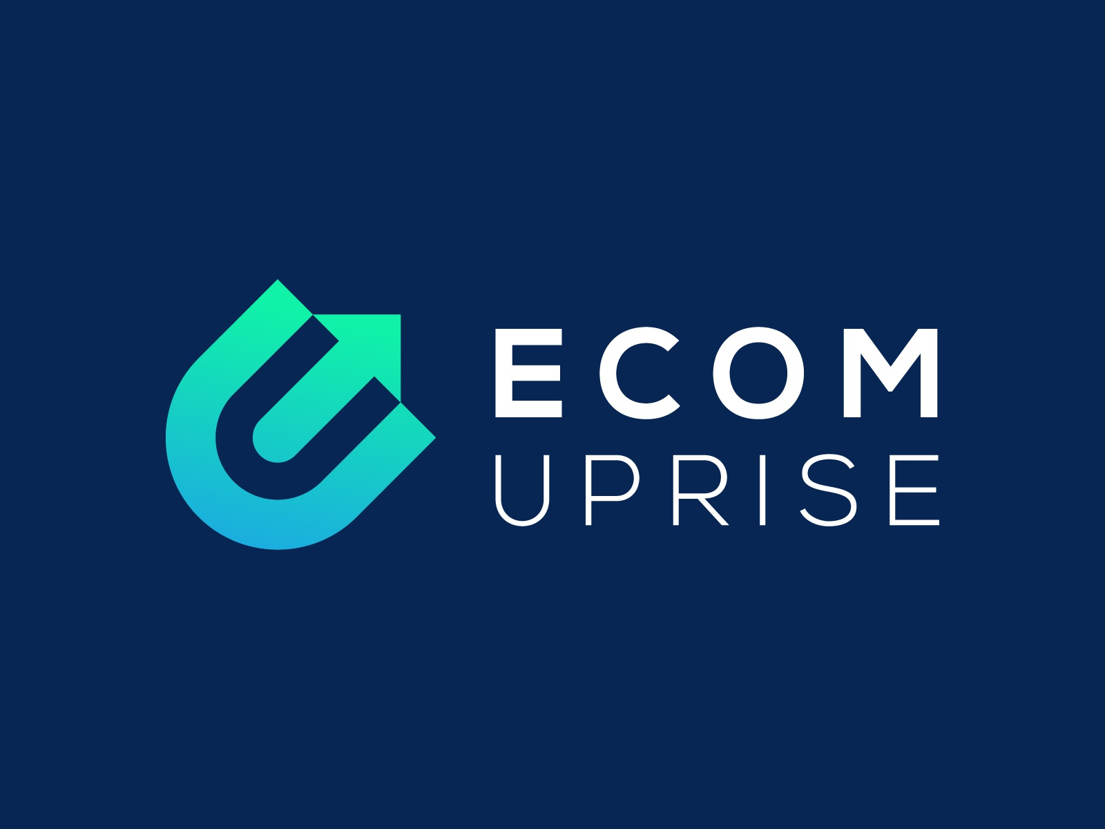 Ecom Uprise - Logo Design ecom uprise identity negative space mark smart logo logotype software strategy technology lettering consulting wordmark forward progress leader arrow rise consult monogram icon mark market place marketplace marketing shopping shop growth progress trustworthy eu commerce e-commerce