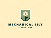 Mechanical Lily Munitions - Logo Design