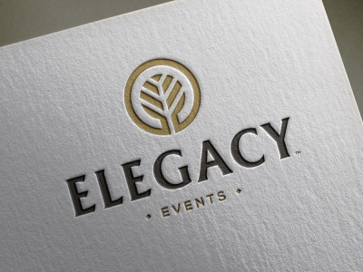 Elegacy Events - Logo Design geometric branding brand creator tree logotype smart mark negative space logo legacy events identity designer icon design event managment company ee monogram initials e clever letters branch symbol