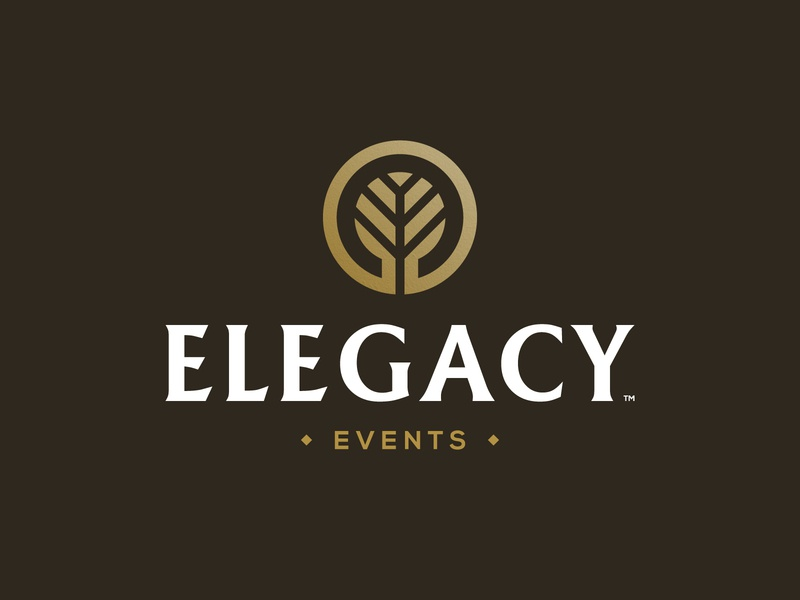 Elegacy Events - Logo Design geometric branding brand creator tree logotype smart mark negative space logo legacy events identity designer icon design event managment company ee monogram initials e clever letters branch symbol
