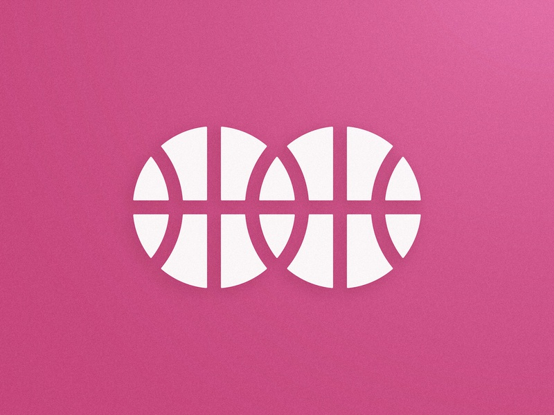Two Dribbble Invites modern icon logomark logo design challenge flat symbol minimal logomark two nba basket dribbbler white and pink ball invitations invites draft basketball player dribbble invite giveaway
