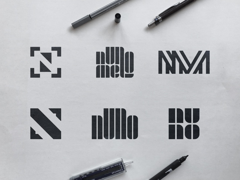 Nuno Melo - Logo Concepts nuno melo portugal smart symbol sketch process photography mark photo camera n m monogram initials nm clever letters identity designer icon design focus logomark camera lens black and white logo