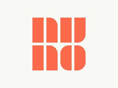 Nuno Melo - Logo Design type symbol tipografia portugal simple font mark nuo letters nuno monogram minimal branding letters creative logotype logotypedesign orange logo design identity designer identidade de marca flat 2d geometric