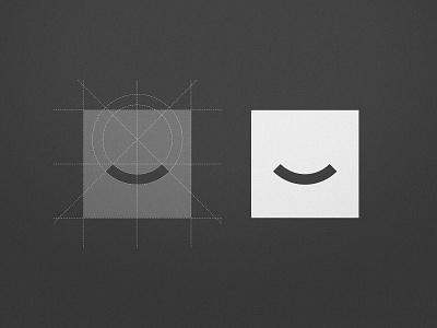 The Smile Space - Logo Breakdown tooth fairy teeth square grid smiley face smile logomark smart mark negative space geometric illustration emoji design dentistry identity designer dentist logo black  white